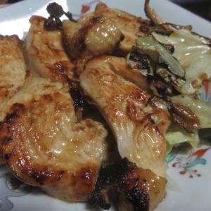 鶏照り焼き   アップルパイ