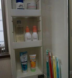 ニトリで洗面所をすっきり。お買い物マラソン考え中。