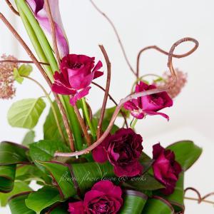 香りの良いバラで〜からのインテリアフラワー小品集4