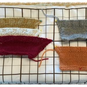 ゴム編み止めはどれがいいか編み比べてみました!