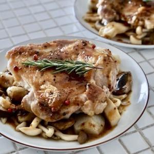 KOZレシピ【鶏もも肉ときのこのハニーマスタードソース】