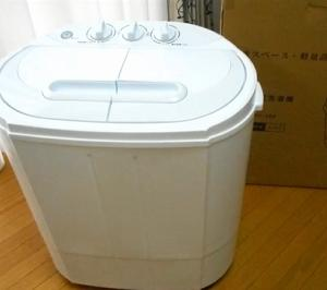 先日、ミニ2槽式洗濯機を買った。長年使った洗濯機が壊れたので・・・