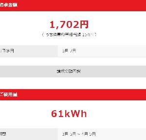 4月の水道光熱費 合計7000円台でした。