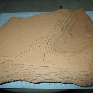 久野城のセレナーデ 54 城郭模型製作