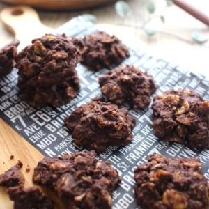 *ホワイトデーにも♪ココアとコーンフレークで作る簡単ザクザククッキー!*