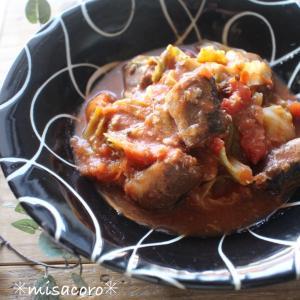 *包丁いらず&栄養満点!レンジDEキャベツと鯖缶のトマト煮と、さば缶の知って得する話。*