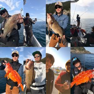 大分県臼杵のZin-Bayでオオモンハタゲーム!!!りんたこキャプテン&Koga氏のガイドでしっかり釣ってきましたわ♪〜ヽ(°ヮ°*)ノ〜♪
