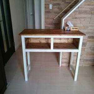 オーダーのテーブルと木工雑貨