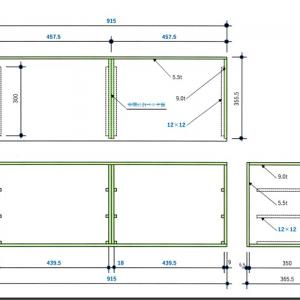 木工31:引出し収納:設計変更&筐体製作後編(2021/05/06-07)