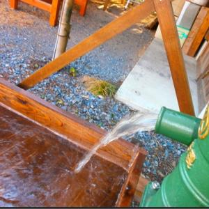 井戸18:木製流し台を使ってみる(2019/06/13)