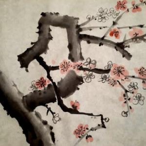 梅を描いてみた
