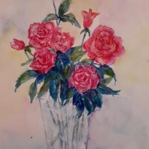 バラを描く