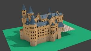 Blender ホーエンツォレルン城