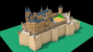 Blender ホーエンツォレルン城2