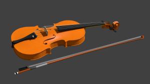 Blender バイオリン