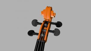 Blender バイオリン2