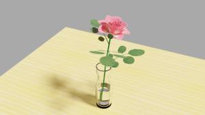 バラ(Blender2.82)、ロケット(Blender2.79b)