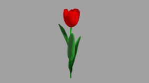 Blender2.82 チューリップとバラ