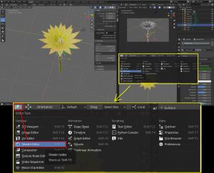Blender2.82 Node の表示と追加、Cycles ノイズ除去