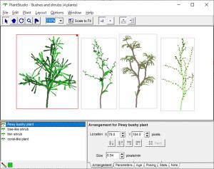 PlantStudio サンプルの植物
