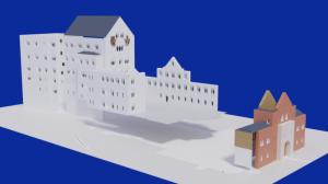 Blender2.91 ノイシュバンシュタイン城の制作1