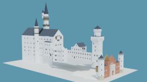 Blender2.91 ノイシュバンシュタイン城の制作2