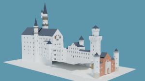 Blender2.91 ノイシュバンシュタイン城の制作3