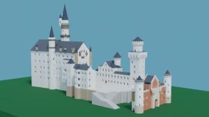 Blender2.91 ノイシュバンシュタイン城の制作4