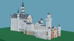 Blender2.91 ノイシュバンシュタイン城の制作5