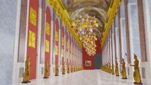 Blender2.91 宮殿の内部の試作3