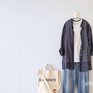 UNIQLOシアーバンドカラーシャツとデニムでコーデ*scampさん10%オフクーポン!