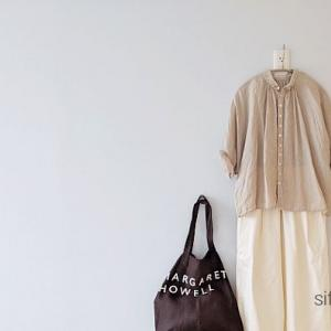 Brocanteのリネンシャツで秋色コーデ。