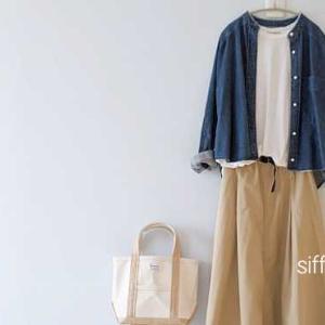 パールボタンのデニムシャツ、niko andチノスカート*etre!さん⇛O'NEILのスカートなどクーポンで20%オフ!
