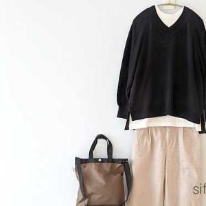 earthのVネックニット、Honeysのコーデュロイパンツ*Rakuten Fashionから気になるものをピックアップ!