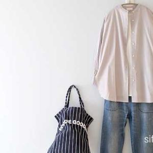 earthのラベンダーカラーのシャツ、グランマさんのデニム*DOORSは20%ポイントバック中!