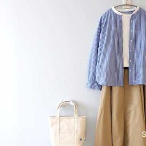 無印ストライプシャツ、DOORS、niko andチノスカート*ポイントアップ2つ!気になるアイテムからピックアップ!!