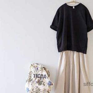 prit のシンプルTシャツ、PoisEオペラスカート*ecolocoさんクーポンで最大15%オフ!ポチしたもの。