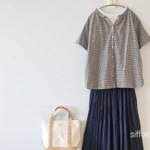2wayギンガムシャツとUNIQLOのスカートパンツ*ポイントアップ3つあり!アンジェさん20時〜再販!