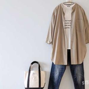SHIPSのロゴTにしまむらのシャツ*AUTUMN SALE!coenレイヤードTシャツ60%オフ、フランネルシャツ70%オフ!!