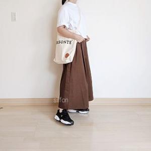 着画:GUの優秀チノスカート、ゲットしてたスニーカー*ポチ到着品!