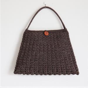 シェル編みのバッグ完成しました