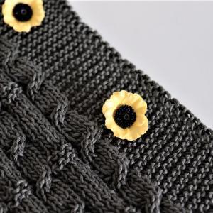 編み続きの前立て