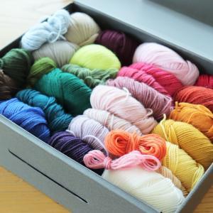 モチーフ編みの毛糸