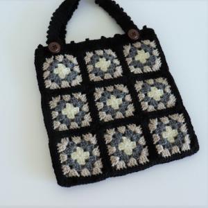 クロッシェカフェL5モチーフ編みのバッグ(生徒さんの作品)
