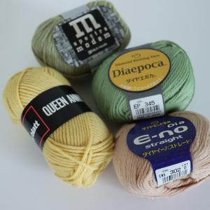 棒針編み練習用の糸