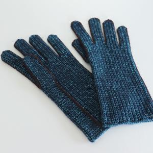 ヨーロッパの手あみより 細編みのグローブ