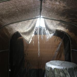小屋の修理
