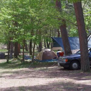 190Eでキャンプ