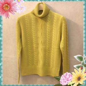 冬の暖かケーブル編みのニット