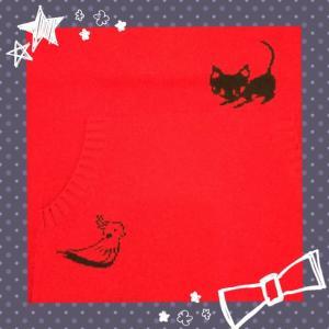 [LINEAR]猫柄が可愛いセーターです。